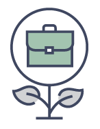 flower with briefcase icon