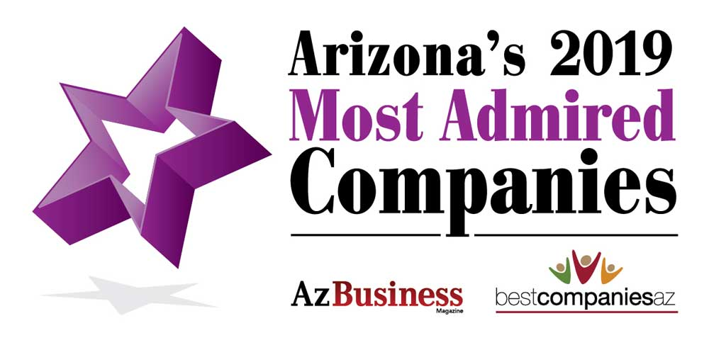 Arizona's 2019 Most Admired Companies Award