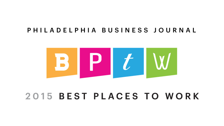 Philadelphia Business Journal 2015 Best Places to Work award