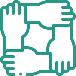 hands connected icon